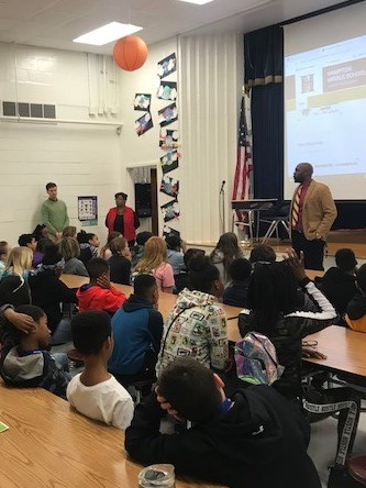 HMS Visits Hampton Elementary 5th Graders